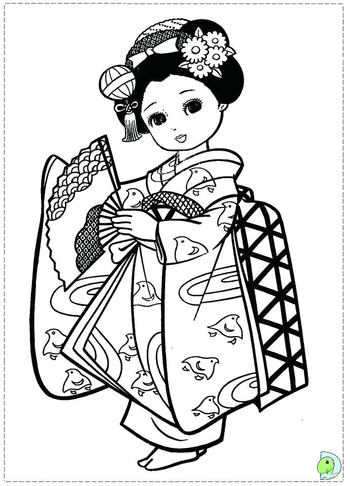 691x960 Japan Coloring Page Shrimps Sushi Japan Cherry Blossom Coloring