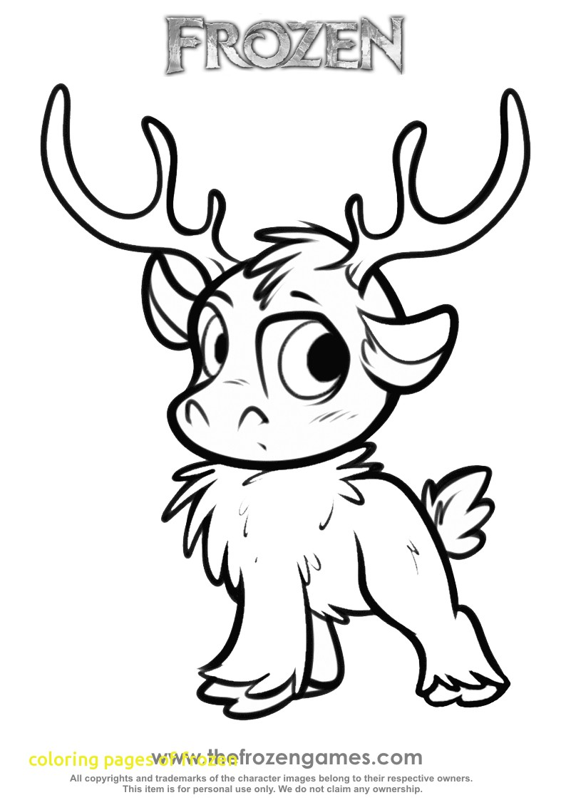 794x1123 Coloring Pages Of Frozen With Frozen Coloring Sven As A Cub Frozen