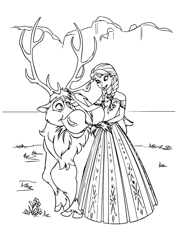 595x842 Sven Coloring Pages It Seems That Is Scared Have Fun Coloring This
