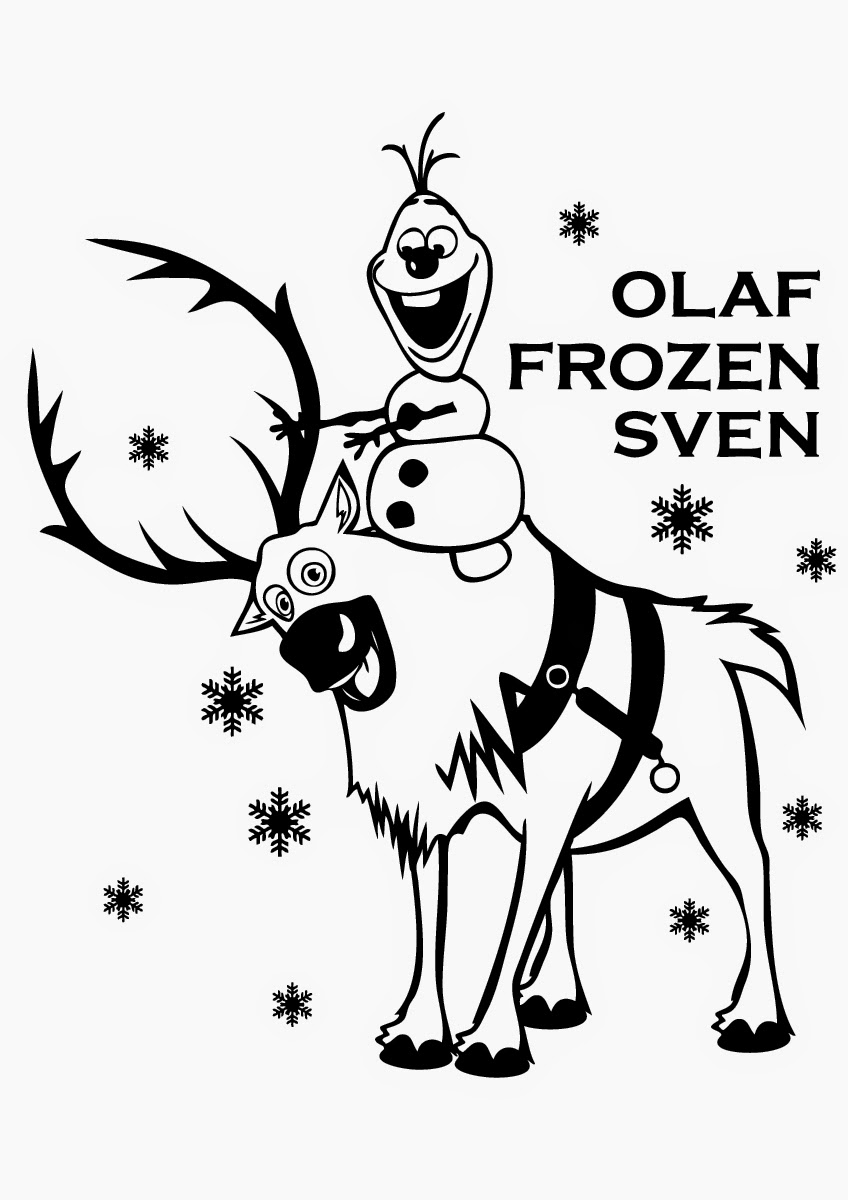 848x1200 Sven And Olaf Coloring Pages