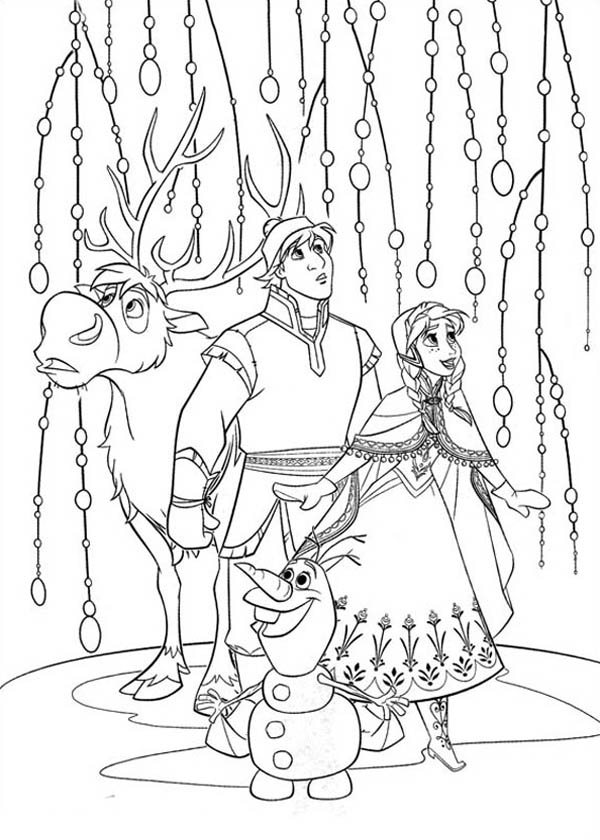 600x840 Anna Kristoff Sven And Olaf Look Something Amazing Coloring Page