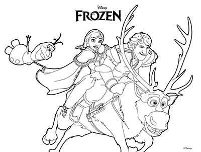Sven Frozen Coloring Pages