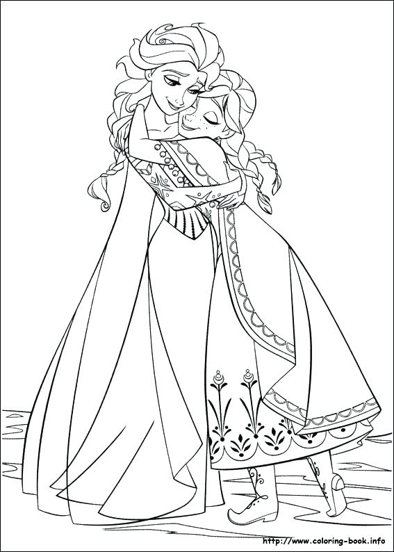 567x794 Frozen Coloring Pages Olaf And Sven Page