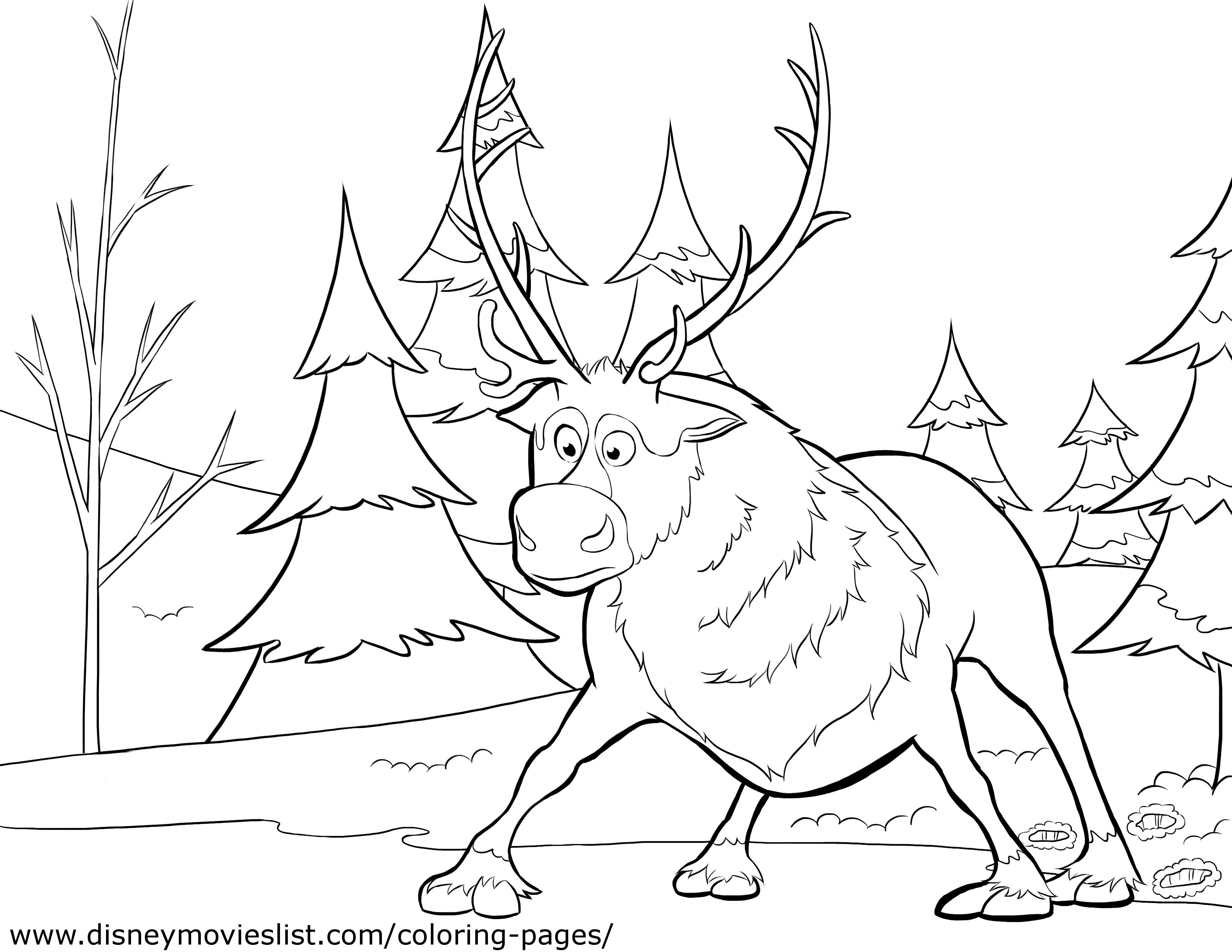 3300x2550 Sven From Frozen Coloring Pages
