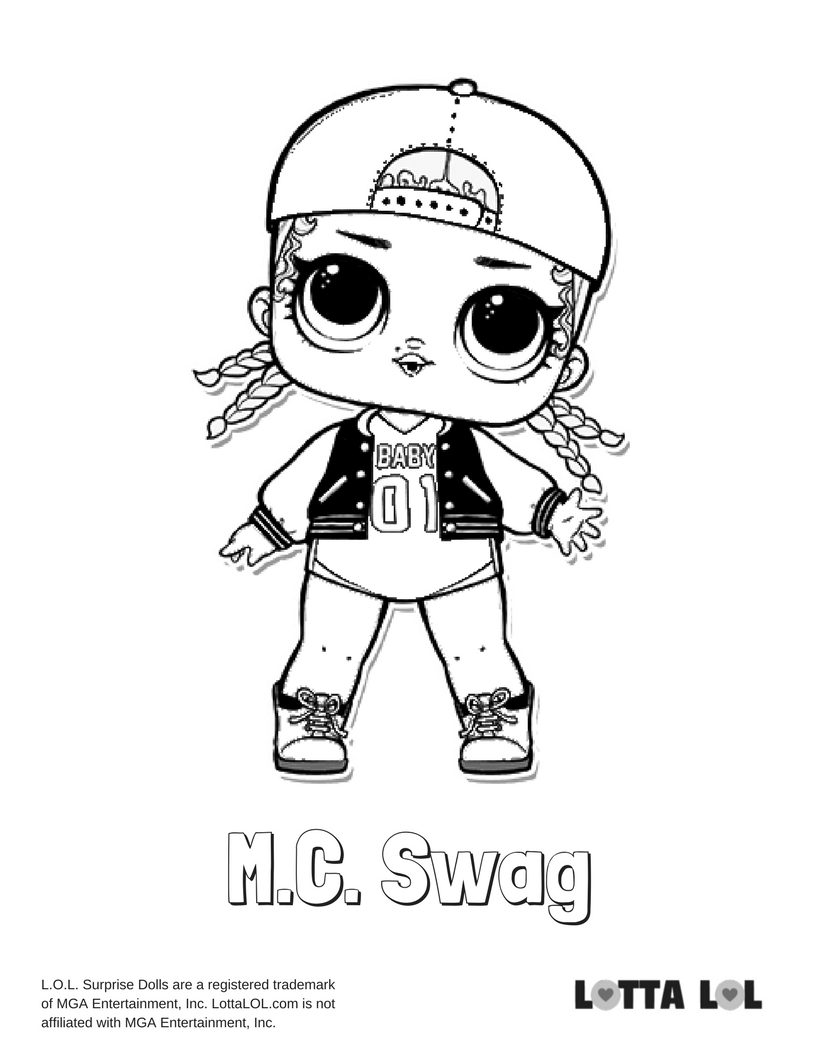 816x1056 M C Swag Lol Surprise Doll Coloring Page Lotta Lol