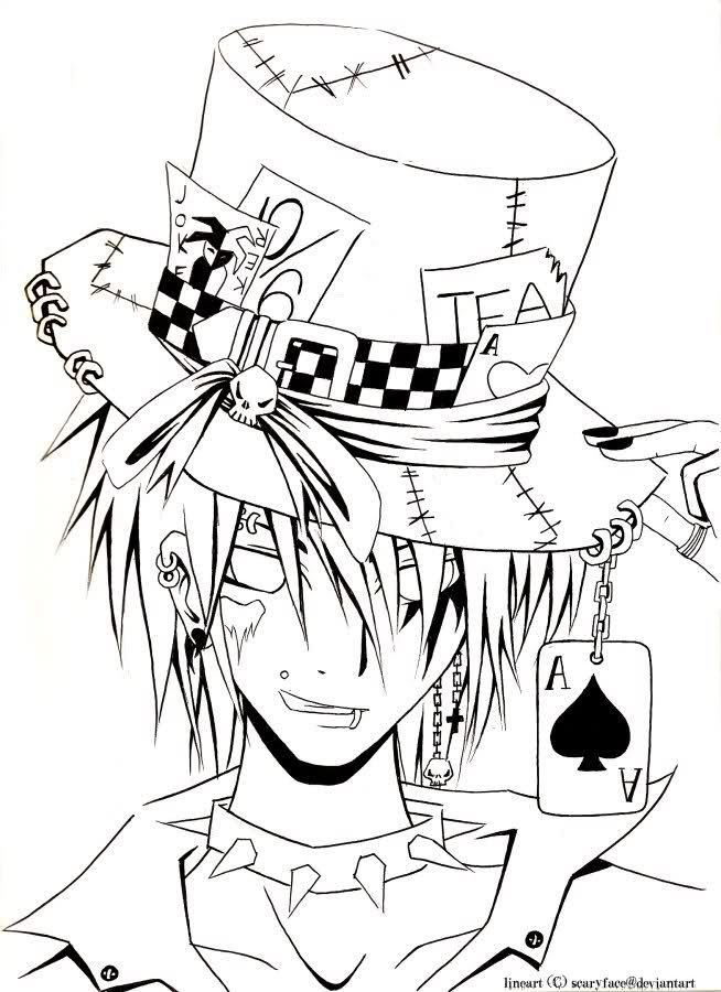 654x900 Original Mad Hatter Drawing