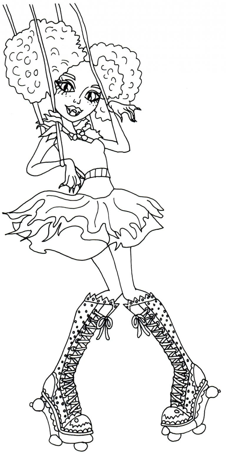 768x1546 Monster High Honey Swamp Coloring Pages Copy