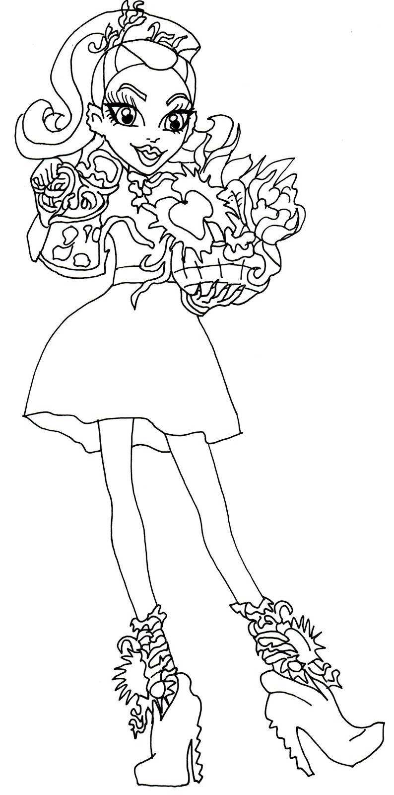794x1600 Monster High Honey Swamp Coloring Pages Fresh Free Printable
