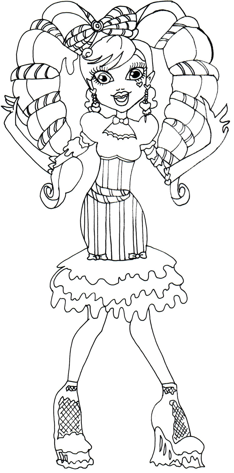793x1600 Monster High Honey Swamp Coloring Pages Sweet Doll