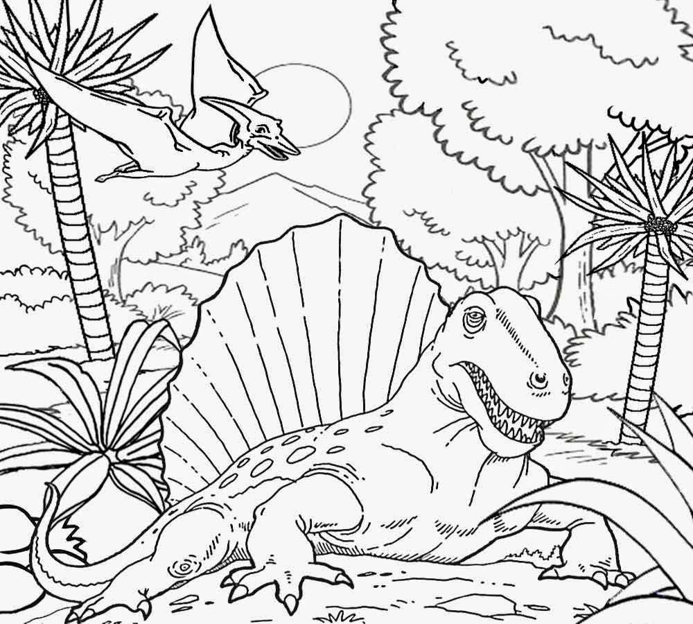 1000x900 Triassic Period Coloring Page