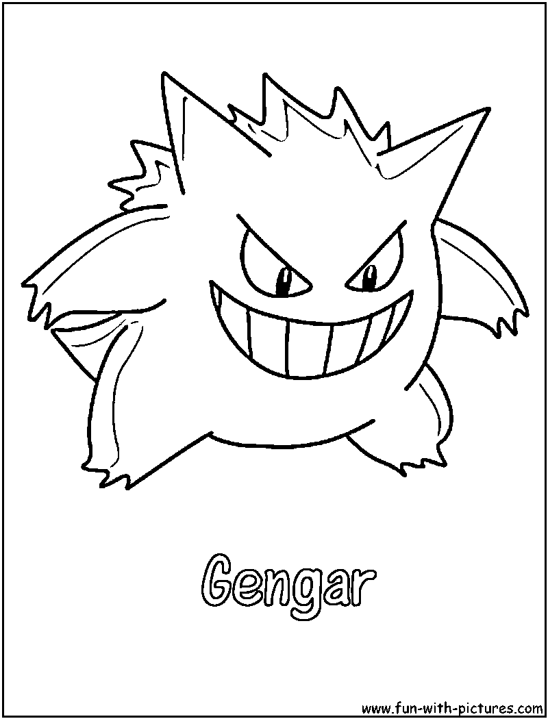 800x1050 Gengar Coloring Pages