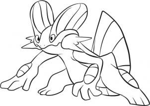 302x213 How To Draw Swampert