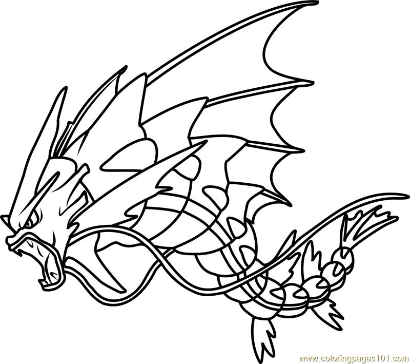800x709 Mega Gyarados Pokemon Coloring Page Free Pokamon Pages With Mega