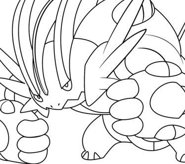 374x332 Rapidash Pokemon Coloring Page