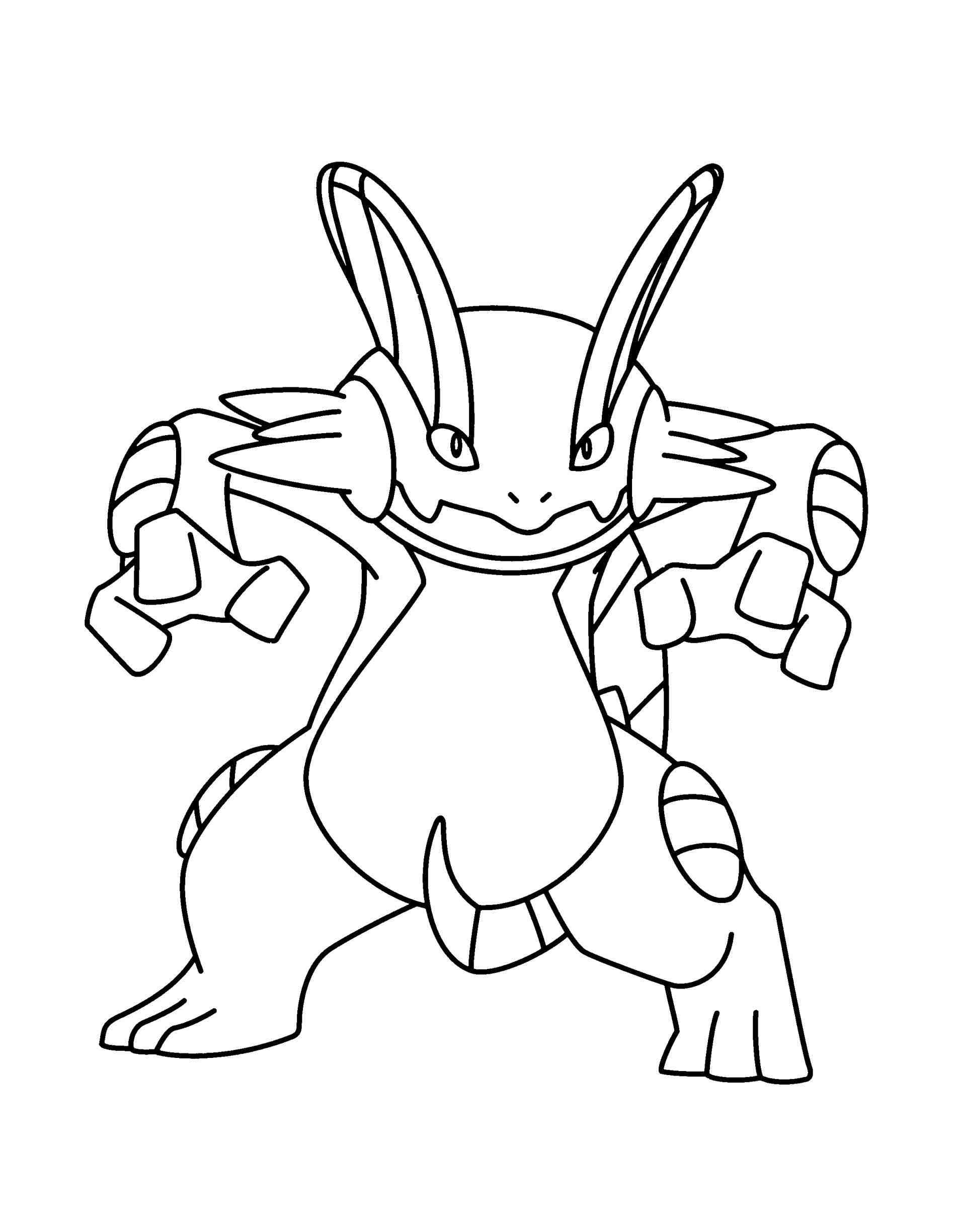 1896x2449 Swampert Coloring Pages