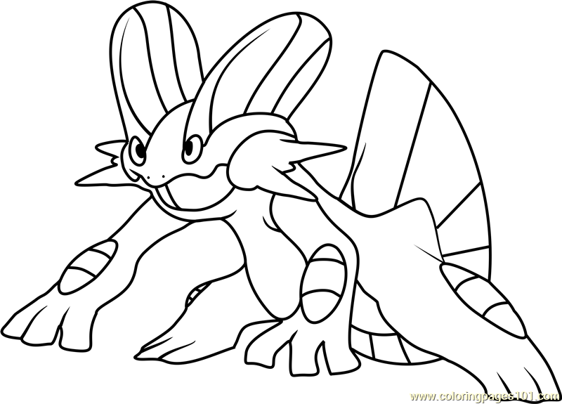 800x575 Swampert Pokemon Coloring Page