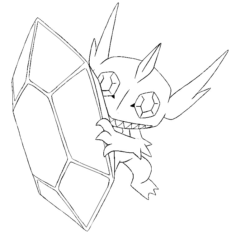 742x749 Coloring Pages Mega Evolved Pokemon Drawing