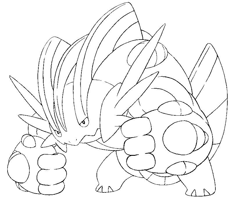 798x695 Coloring Page Mega Evolved Pokemon Mega Swampert