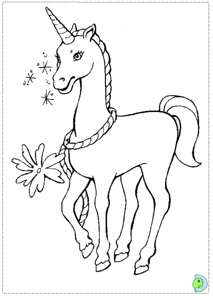 691x960 Sweet Unicorn Barbie Of Swan Lake Coloring Page For Kids