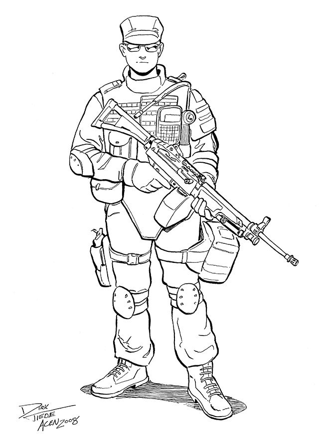 640x888 Swat Guy Coloring Page Printable Adult Coloring Swat