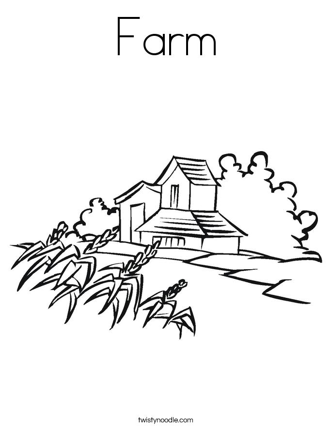 685x886 Farm Coloring Page