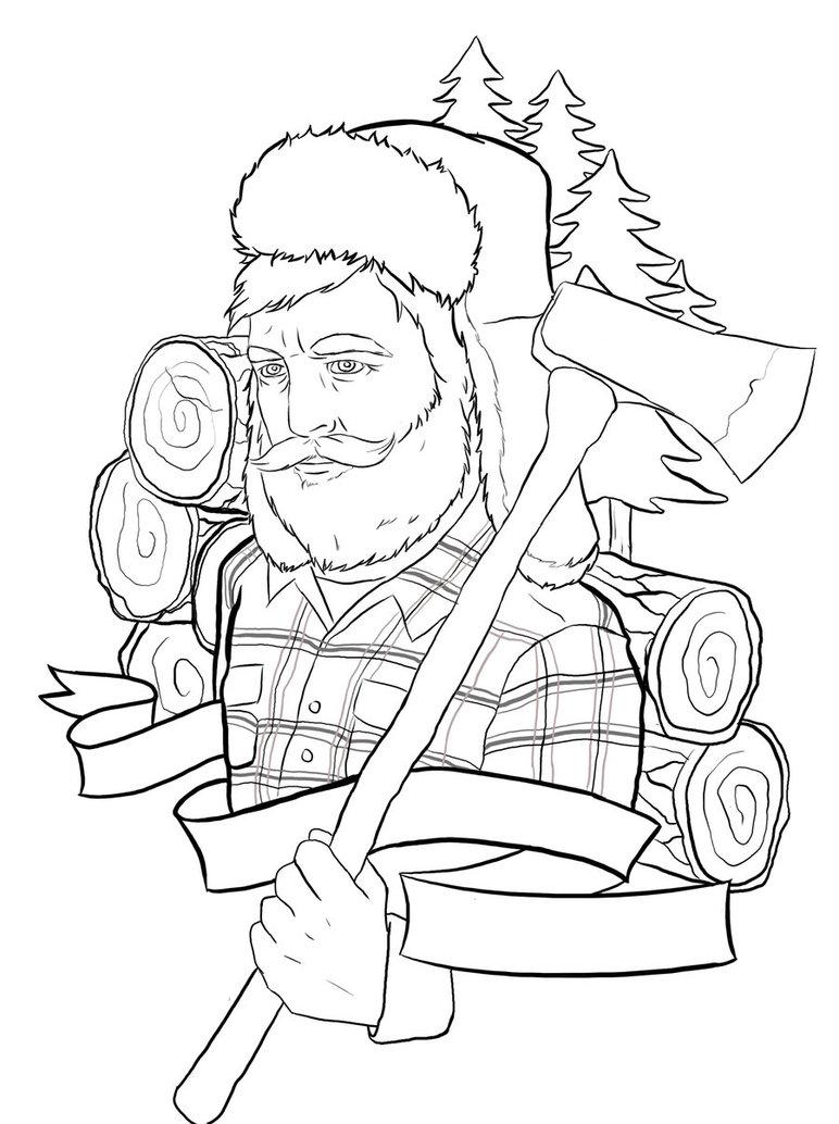 772x1034 Interesting Lumberjack Coloring Pages Drawing At Getdrawings Com