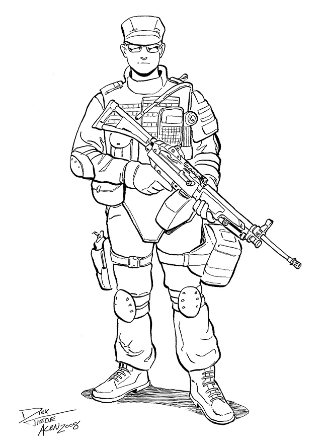 640x888 Swat Team Coloring Pages