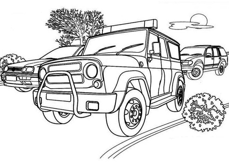 800x565 Tactical Team Police Car Coloring Page Tactical Team Police Car