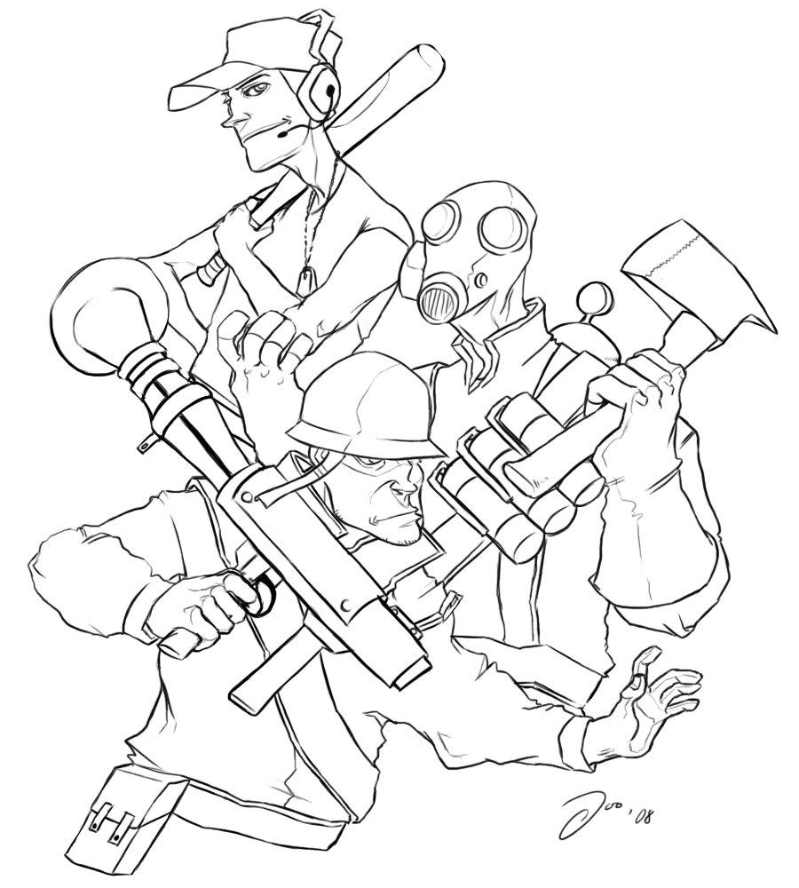 900x1000 Sniper Coloring Sheet