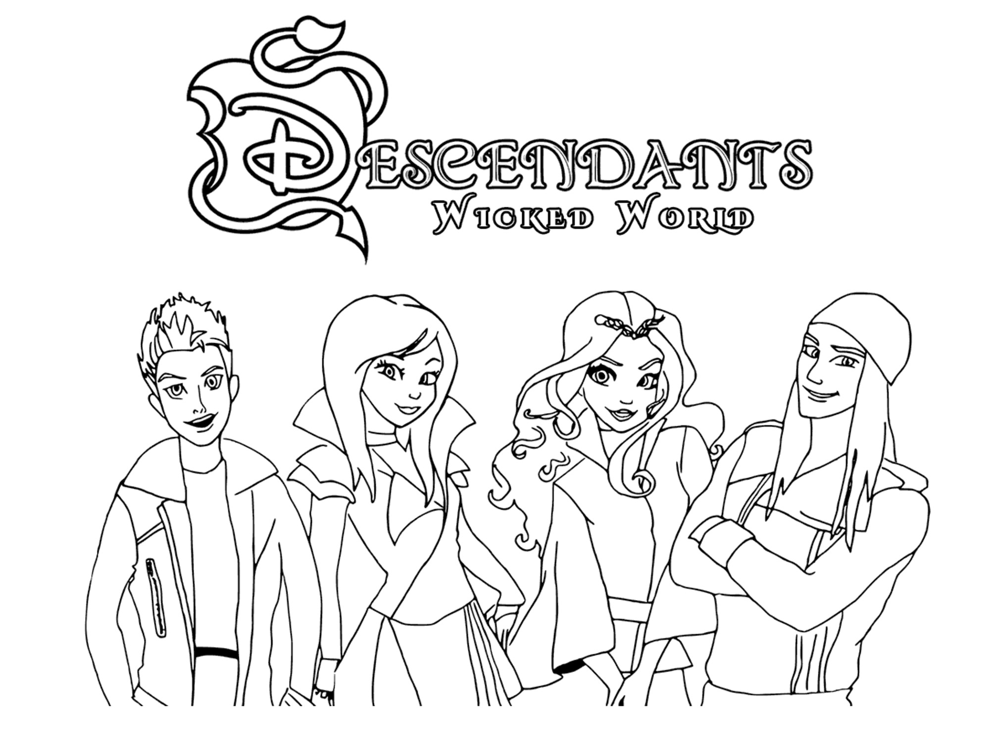 2000x1480 The Descendants Coloring Pages Wagashiya