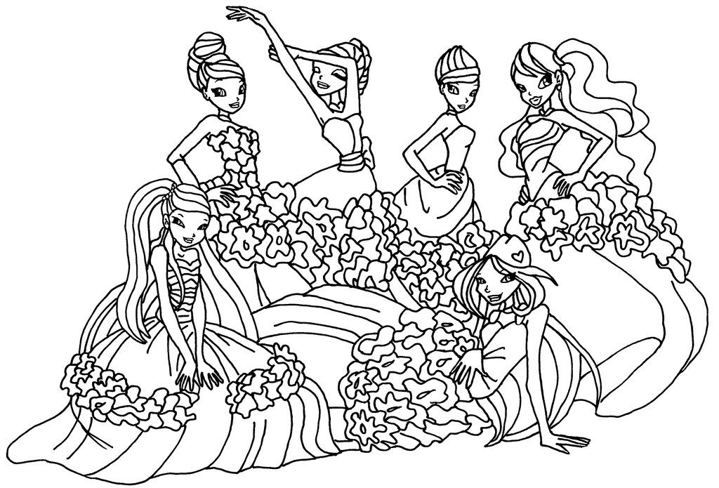 1024x695 Winx Sirenix Coloring Pages