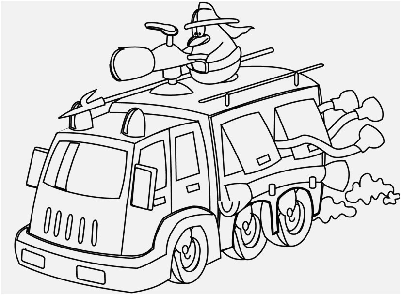 827x609 Swat Truck Coloring Page