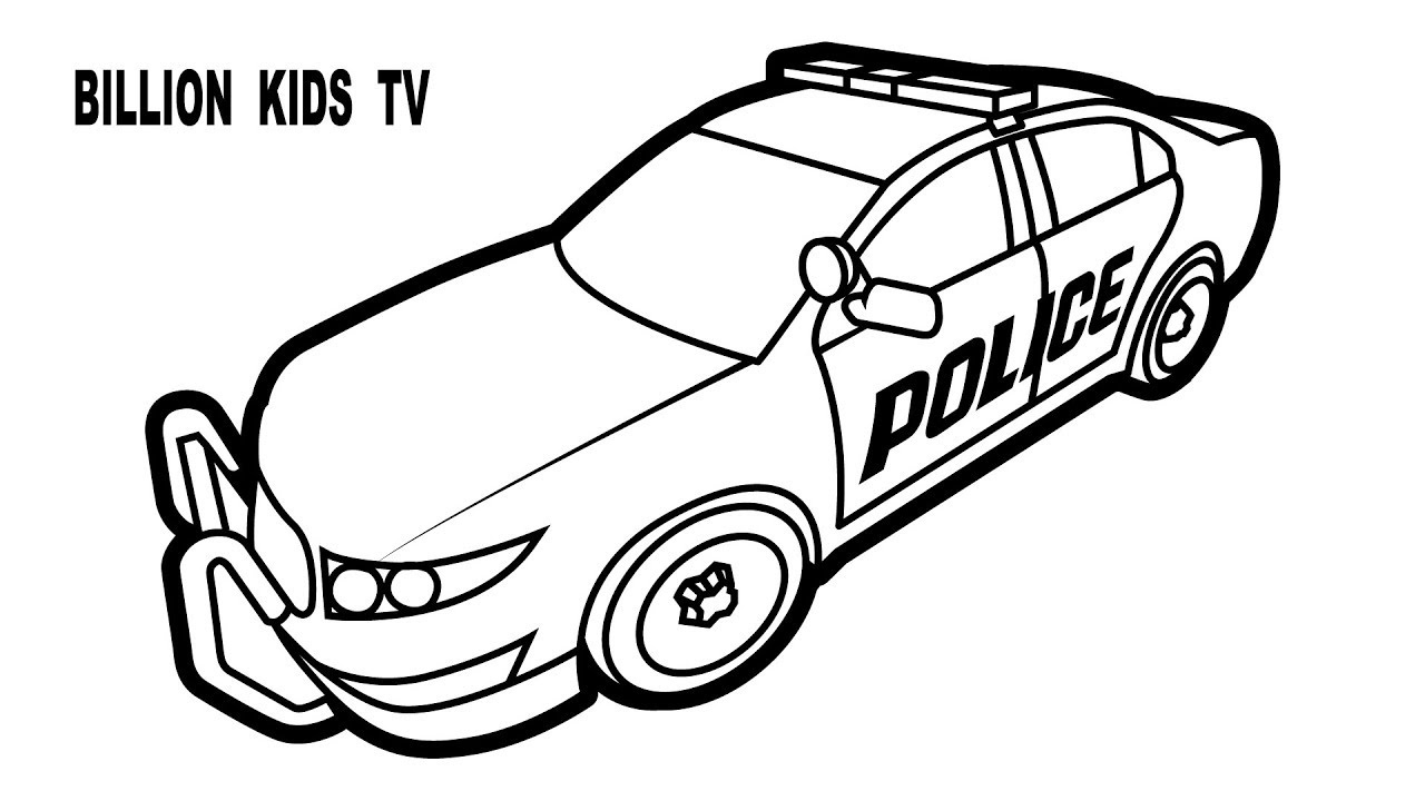 1280x720 Colors Police Car Coloring Pages, Vehicles Video For Kids