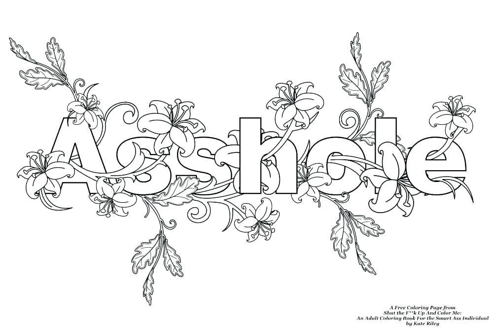 1000x667 Cuss Word Coloring Pages Word Coloring Pages With Best Swear Word