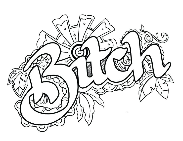 736x568 Swear Word Coloring Pages Printable Free F Word Coloring Pages Fox