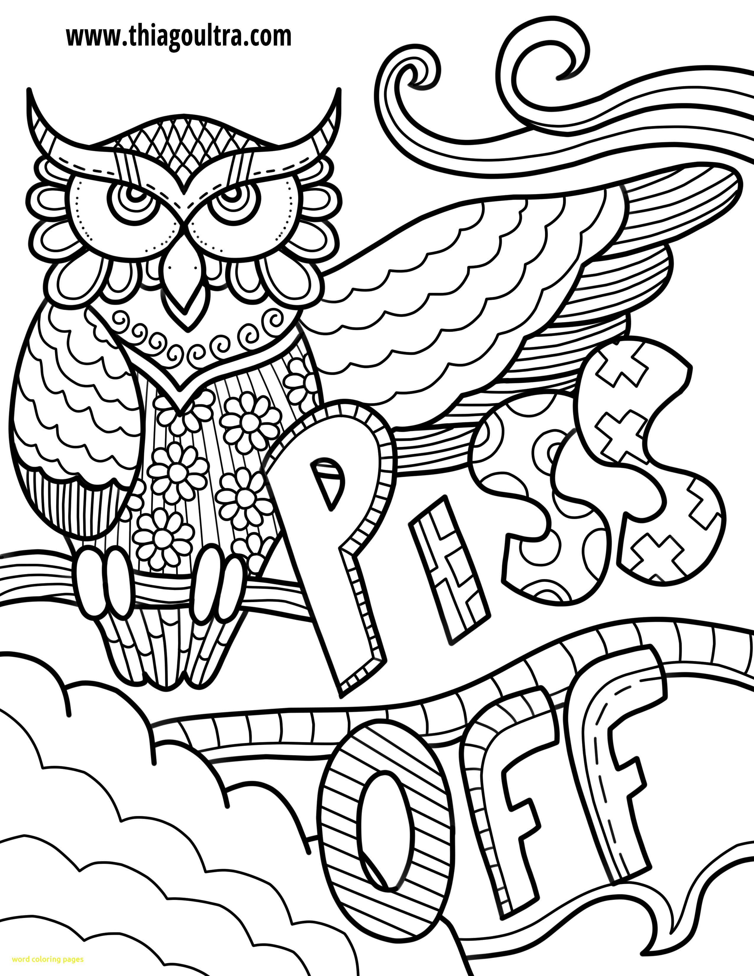2550x3300 Word Coloring Pages With Swear Word