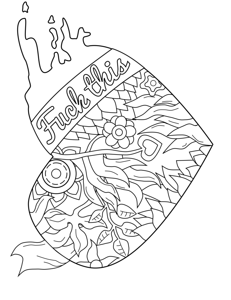 750x971 Swear Word Coloring Page Swear Word Coloring