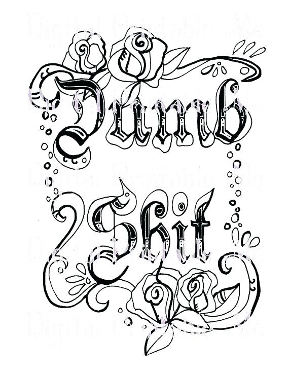 Swear Word Coloring Pages Printable At GetDrawings Free Download