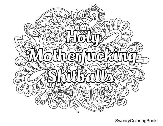 Swearing Coloring Pages