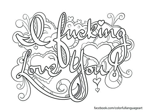 Swearing Coloring Pages At Getdrawings Free Download