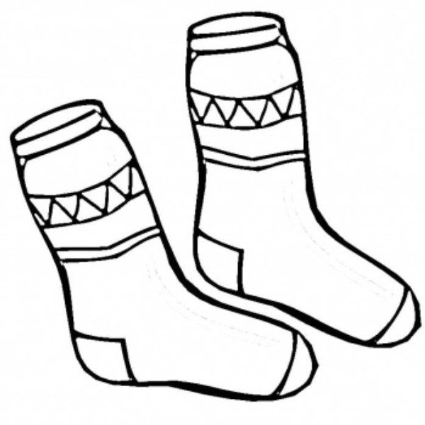 600x601 Winter Clothes Coloring Pages Sweater Winter Clothes Coloring