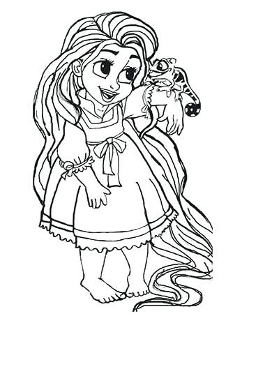 400x529 Baby Coloring Pages Rapunzel To Color Ba Coloring Pages Rapunzel