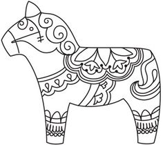 236x210 Dala Horse Embroidery Pattern Embroidery, Horse And Patterns