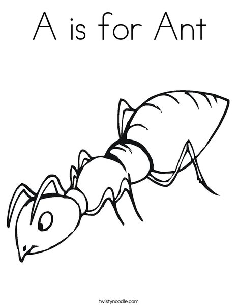 468x605 A Is For Ant Coloring Page A Is For Ant Coloring Page