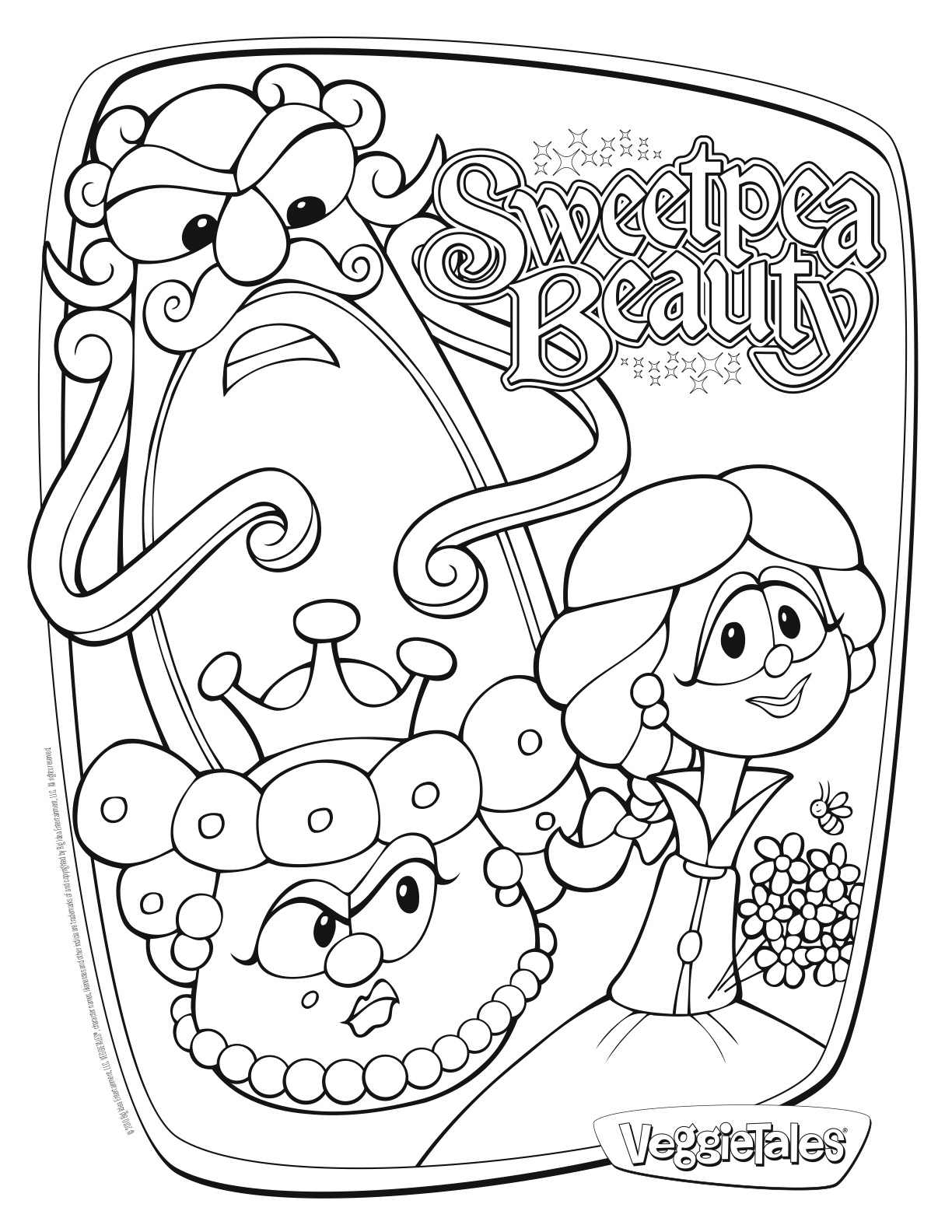 Sweet Pea Coloring Pages At Getdrawings Com Free For Personal Use