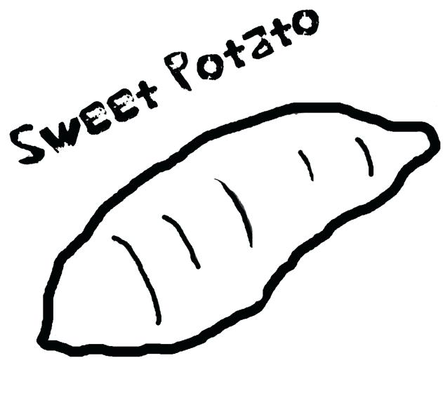 631x567 Plain Design Coloring Page Yam Sweet Potato Drawi On Coloring Frog