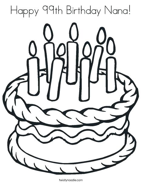 468x605 Coloring Pages Disney Channel Happy Birthday Sweet Treat Page
