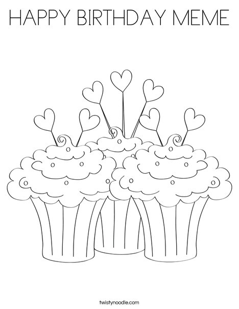 468x605 Happy Birthday Meme Coloring Page