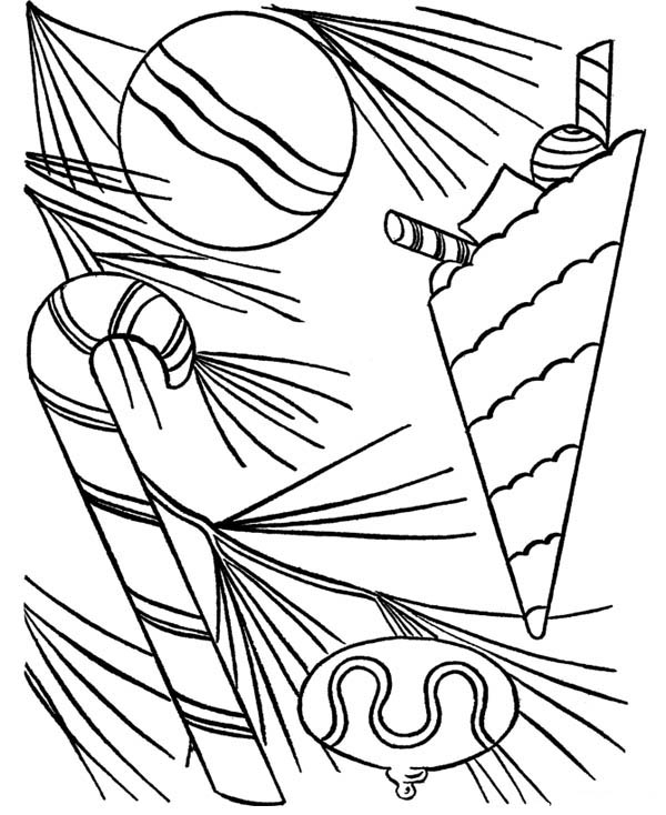600x734 Sweet Candy Cane Coloring Page