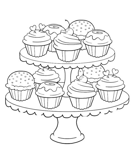 474x564 Sweet Treat Birthday Coloring Pages For Kids